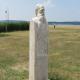 Herman Ottó mellszobra, 2014,Agárdi sétány,220x55x35cm, süttői mészkő 533x500