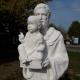 Szent Antal szoborcsoport,2017,Balatonszemes, Martin Henrikkel közös szobor, életnagyság, ruskicai márvány 533x500